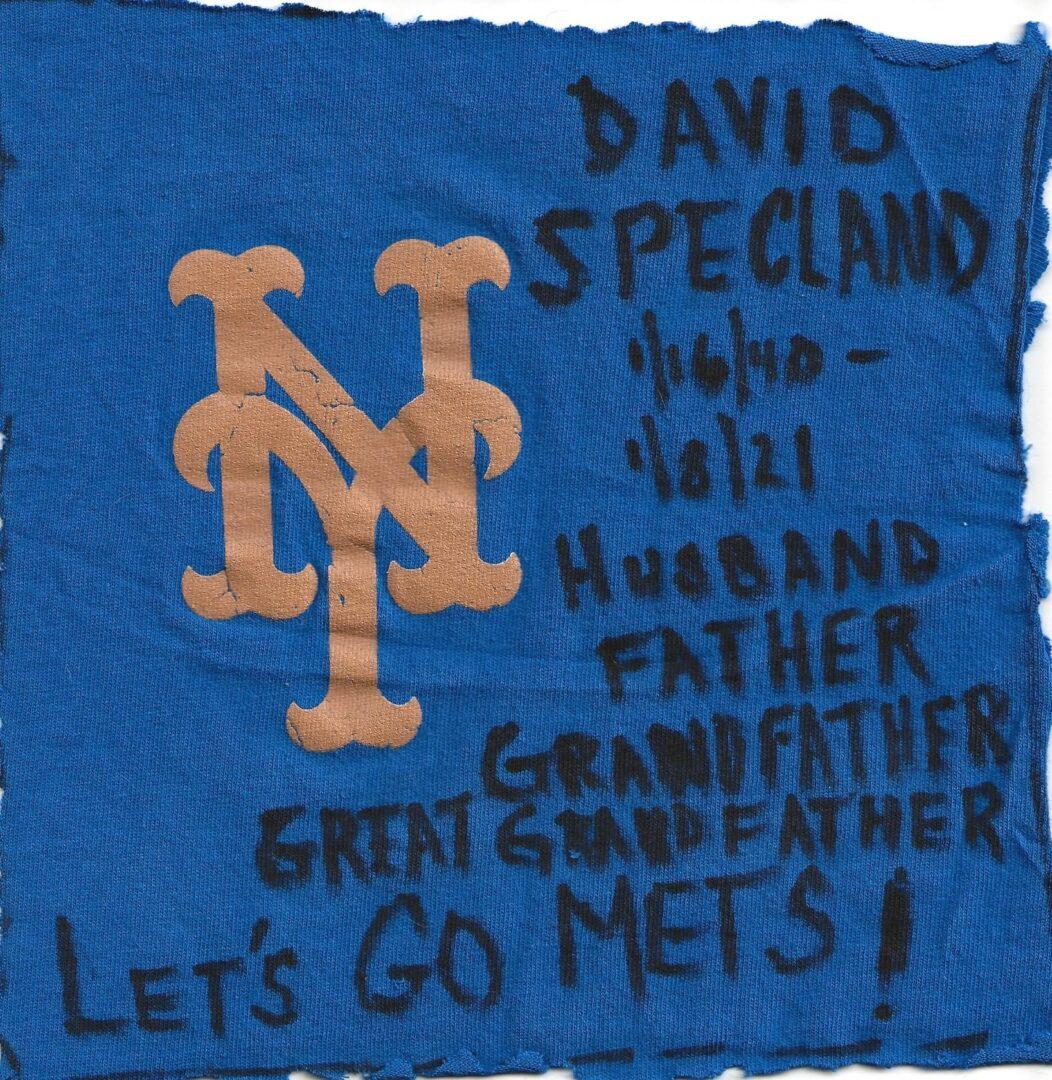 IN MEMORY OF DAVID SPECLAND - 1/16/40 - 1/8/21