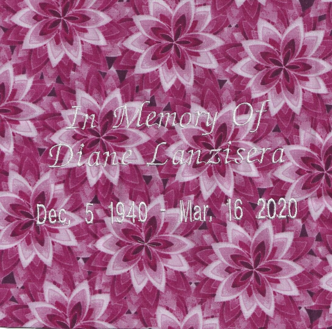 IN MEMORY OF DIANE LANZISERA - 12/5/1940 - 3/16/2020