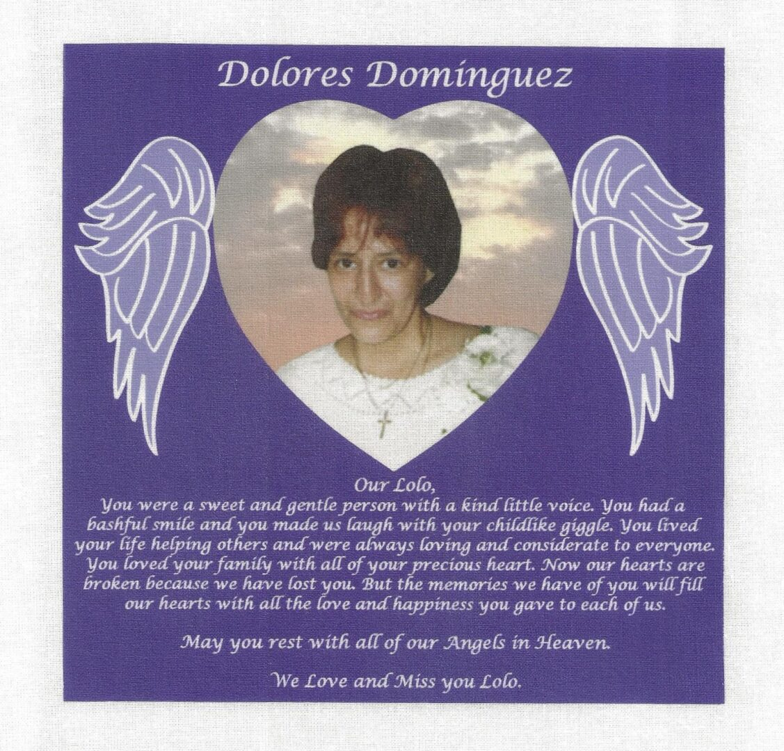 IN MEMORY OF DOLORES