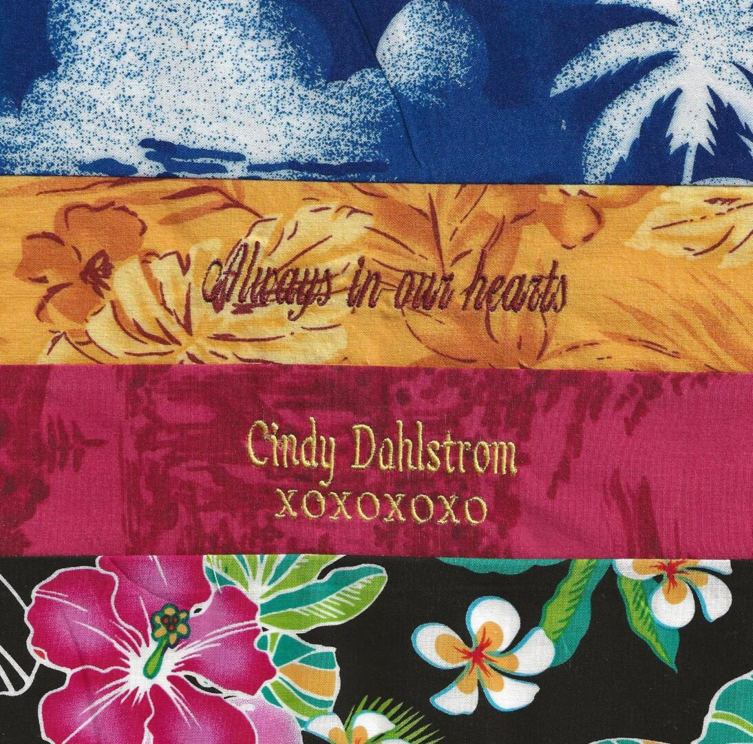 IN MEMORY OF CINDY DAHLSTROM