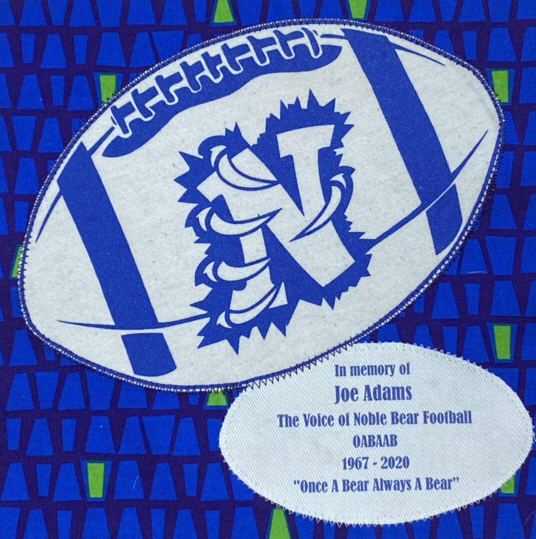 IN MEMORY OF JOE ADAMS: THE VOICE OF NOBLE BEAR FOOTBALL