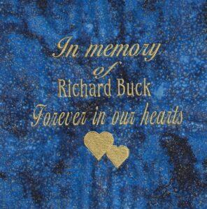 IN MEMORY OF RICHARD BUCK