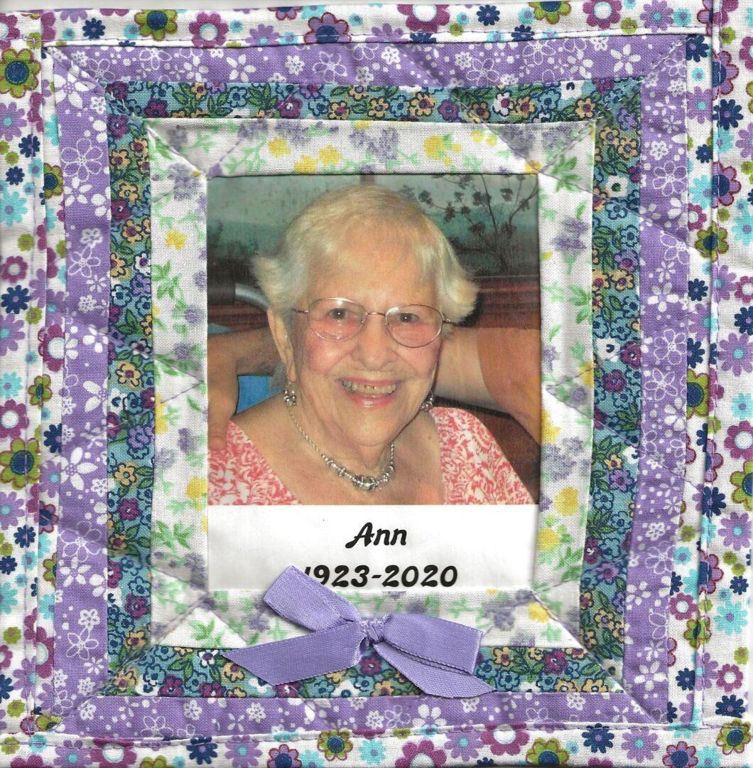 IN MEMORY OF ANN CORSINO - JULY 9, 1923 - JUNE 5, 2020