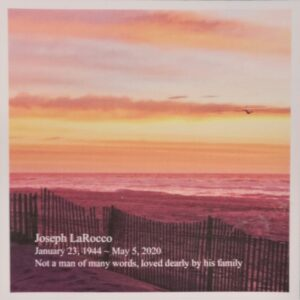 IN MEMORY OF JOSEPH LaROCCO 1/23/1944 - 5/4/2020