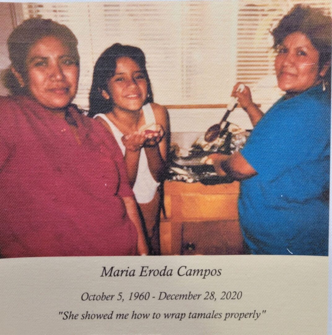 IN MEMORY OF MARIA ERODA CAMPOS - 10/5/1960 - 12/28/2020
