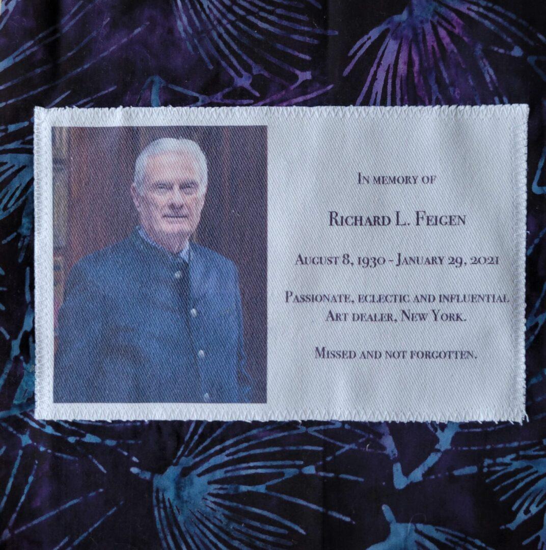 IN MEMORY OF RICHARD L. FEIGEN