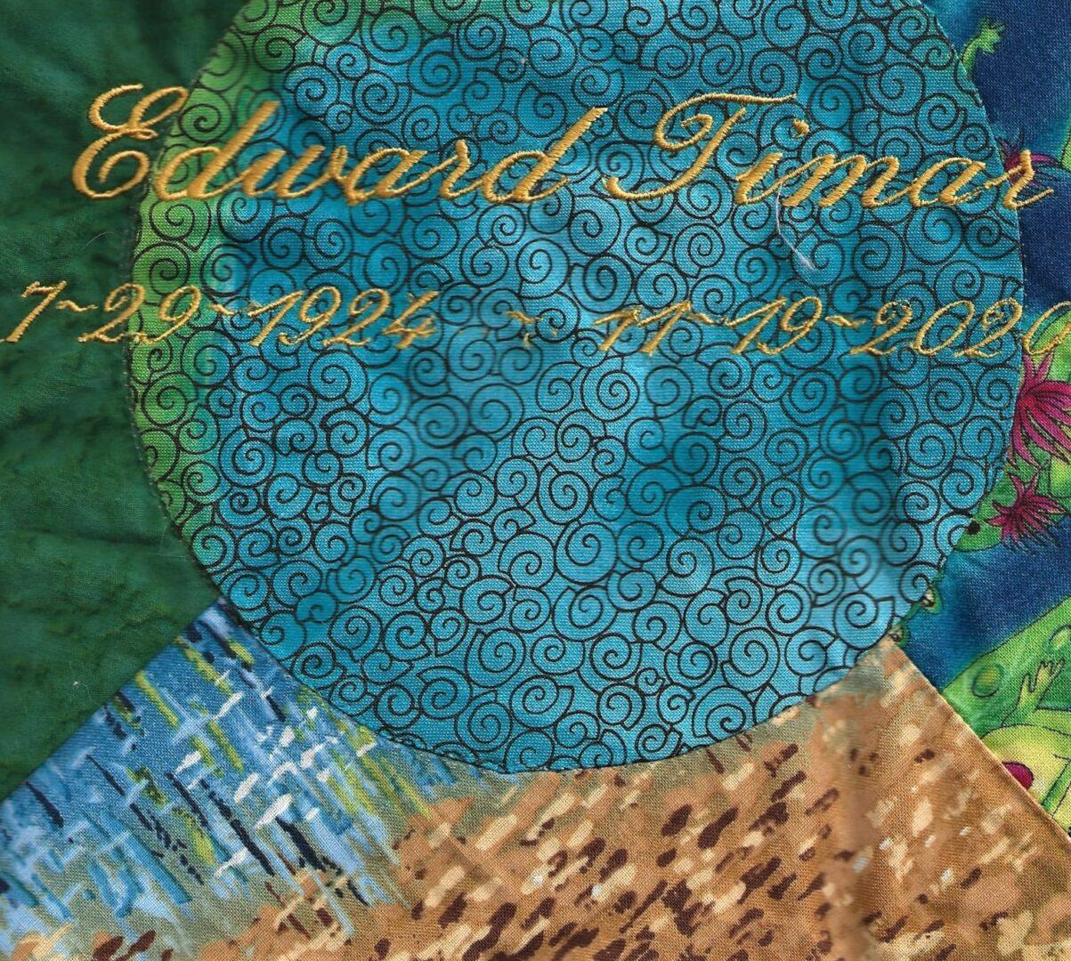 IN MEMORY OF EDWARD TIMAR - 7/29/1924 - 11/19/2020