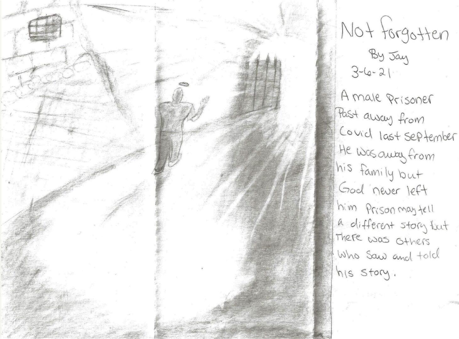 IN MEMORY OF A MALE PRISONER - NOT FORGOTTEN