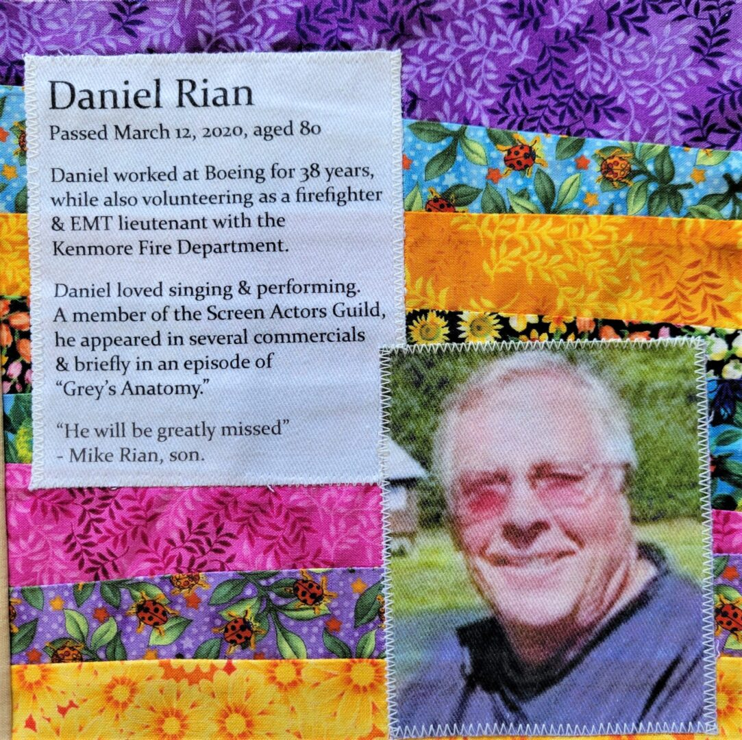 IN MEMORY OF DANIEL RIAN - MARCH 12, 2020