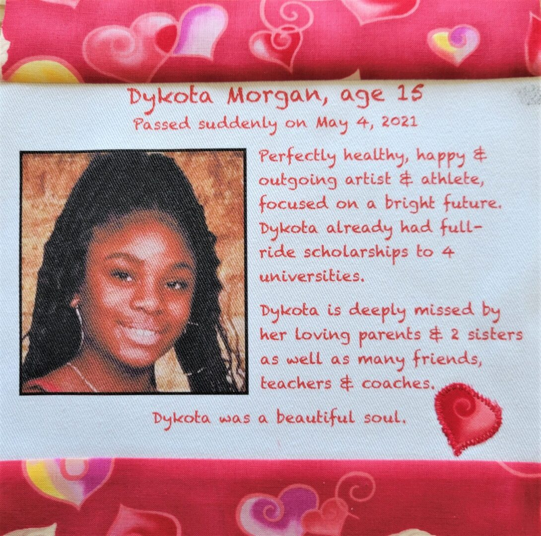 IN MEMORY OF DYKOTA MORGAN - age 15, DIED MAY 4, 2021