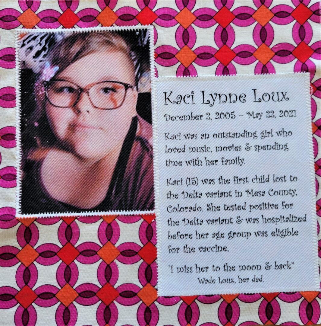 IN MEMORY OF KACI LYNNE LOUX - AGE 15, MAY 22, 2021