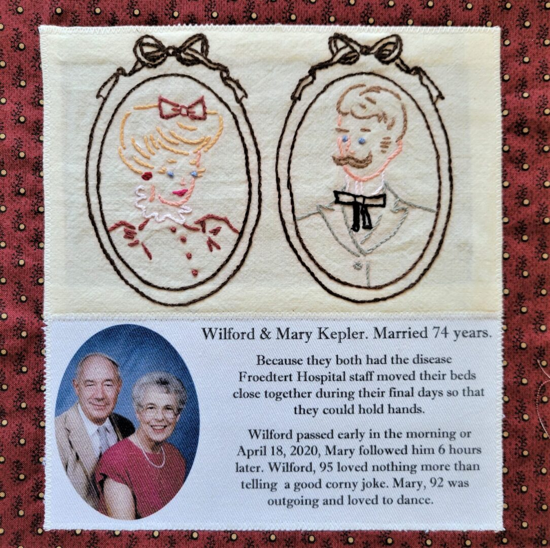 IN MEMORY OF WILFORD & MARY KEPLER - BOTH DIED APRIL 18, 2020